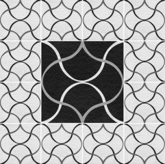 Black white marble-stone mosaic texture. (High.res.)