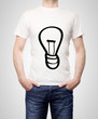 T-shirt with lamp