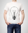 T-shirt with bulb