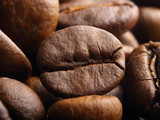 macro shot of a roasted coffee bean