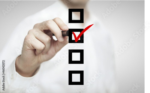 Leinwandbild Motiv drawing checkbox