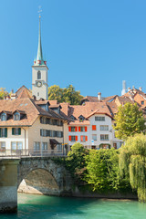 Old town of Bern and Aare river