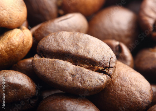 rosted coffee bean extreme macro shot