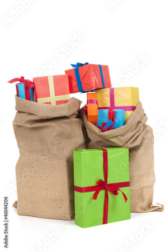 Many presents in bags
