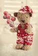 Teddy bear with santa hat