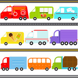 Vector Icons : Van / Truck Vehicles / Freight Transportation