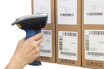 Scanning boxes with buletooth barcode scanner