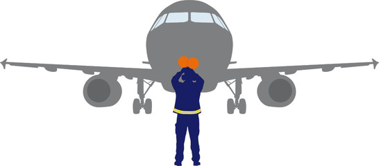 Flugzeugeinweiser, Aircraft marshaller
