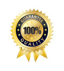 100 percent quality guarantee seal
