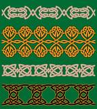 Celtic embellishments and ornaments poster