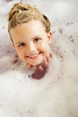 Girl Playing In Bath