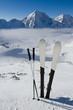 Ski, skiing, winter, snow and sun