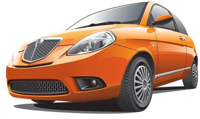 orange compact car