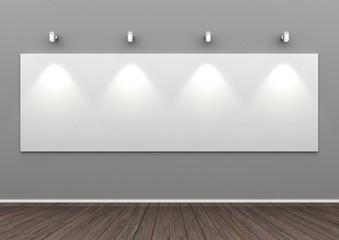 beleuchtetes Galerie Panoramabild