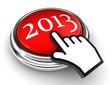 new year red button and cursor hand