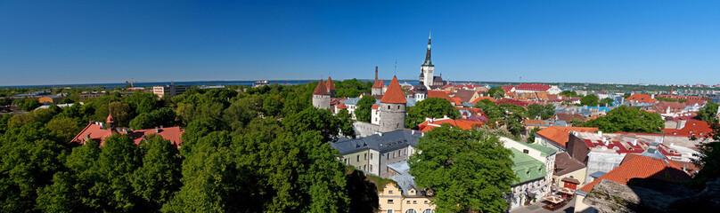 Large city panorama of Tallinn, Estonia