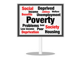 Poverty social poster