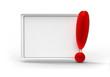 Helles Board, rotes Ausrufezeichen