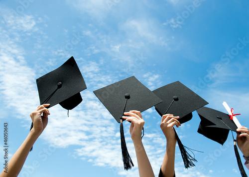 throwing graduation hats