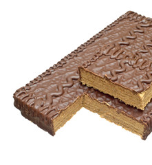 Wafer cake with chocolate.