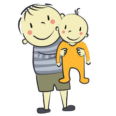 faire part bébé orange avec garçon