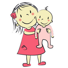 faire part fille bébé fille rose