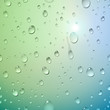 Water Drops On Glass. Vector I...