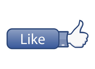 Thumb up, social media like button | icon. Vector illustration.