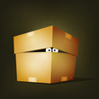 Creature Inside Birthday Cardboard Box
