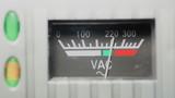 Vintage analog volt meter poster