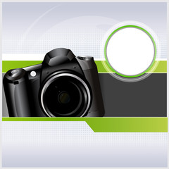 Abstract vector background with camera