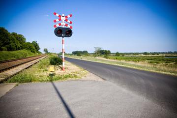 Znak drogowy / Przejazd kolejowy