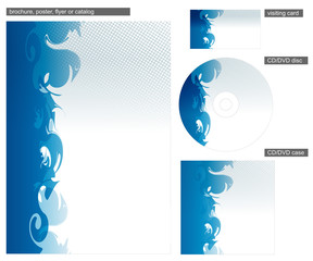 Abstract blue corporate identity design