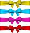 Set of colorful bows.