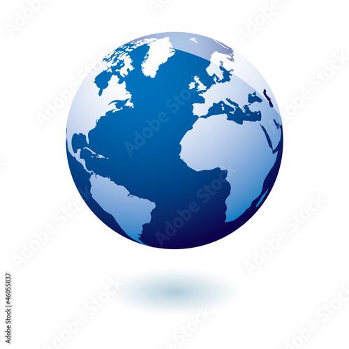 Blue icon earth gel