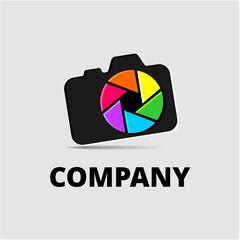 Фотокамера, логотип для фотостудии