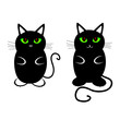 funny and sweet cat vector illustration