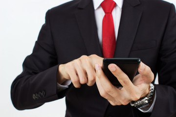 men holding mobile phone