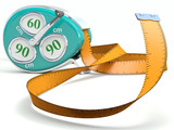 Fitness tape. Weight loss concept