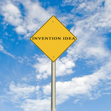 Road sign to invention idea poster