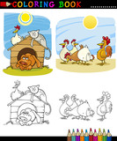 Farm and Companion Animals for Coloring poster