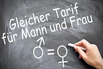 Unisex Gleicher Tarif für Mann und Frau