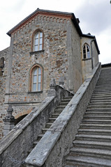 Treppe in Morcote, Tessin