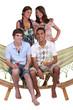 Teens on a hammock