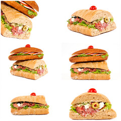 Isolated sandwiches