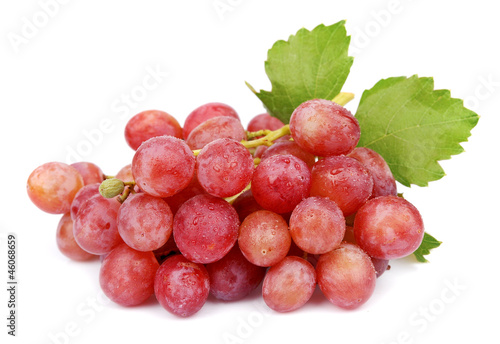 sweet grapes with drops