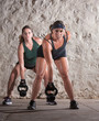 Two European Woman in Boot Camp Workout
