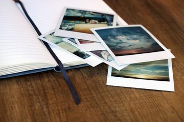 Journal and Polaroids