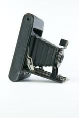 Black Vintage Folding Camera on Angle