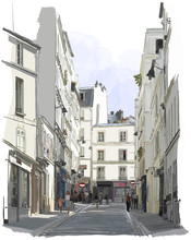 rue près de Montmartre à Paris
